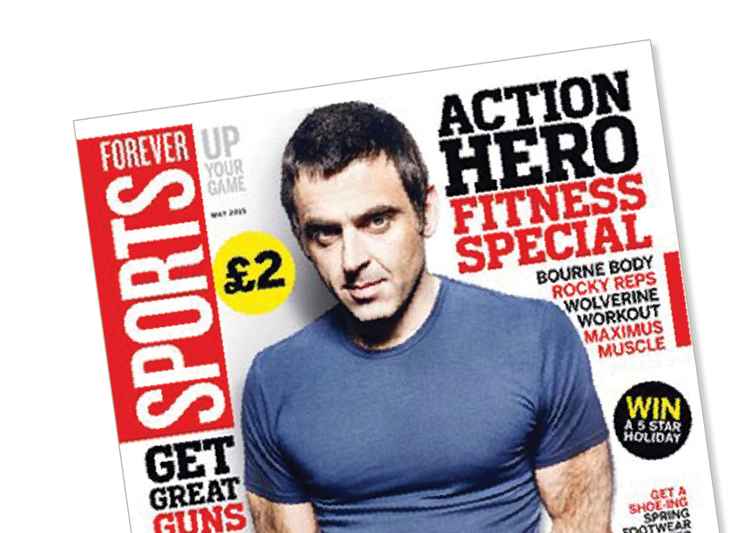 Close up of Sport Magazines design for Forever Sports