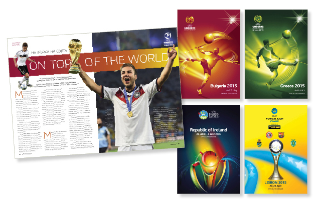 Sport Magazines designs for UEFA sport programmes