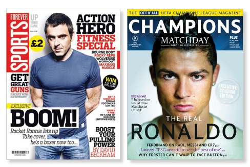 Sport Magazines designs for Forever Sports and Champions