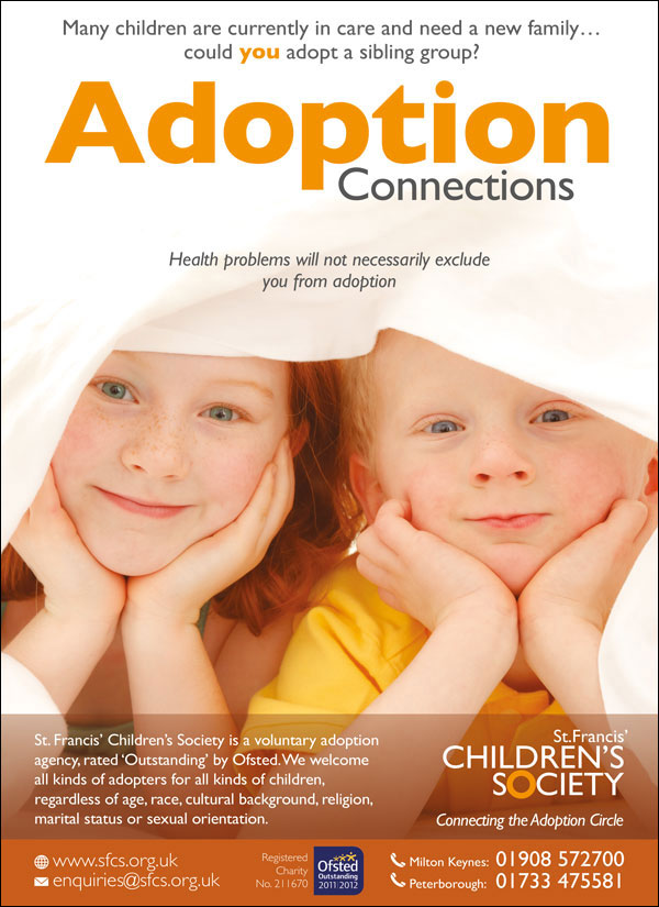 advert showing two young children peeping through covers