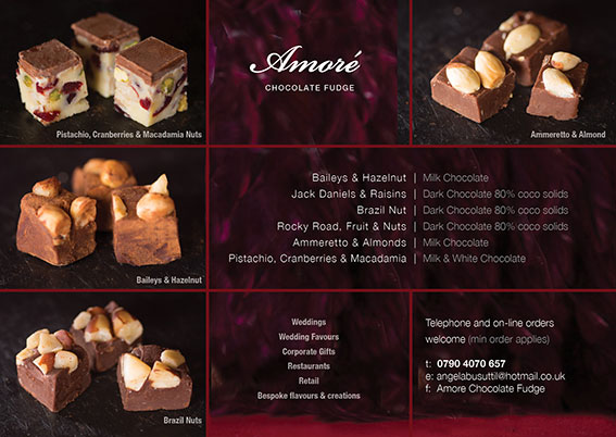 Amore Chocolates leaflet selection listing