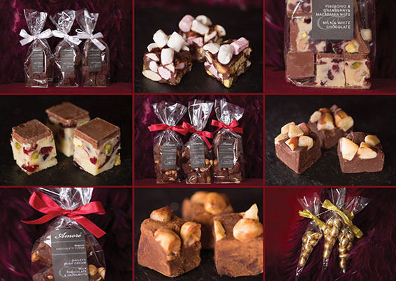Amore Chocolates leaflet selection