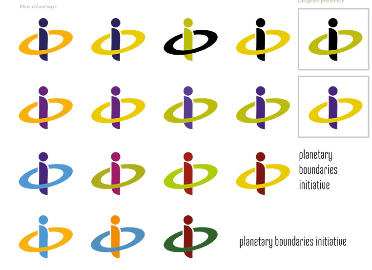 Planetary Boundaries Initiative logo colour ideas