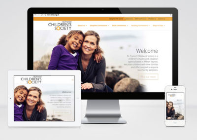 St. Francis' Children's Society responsive website