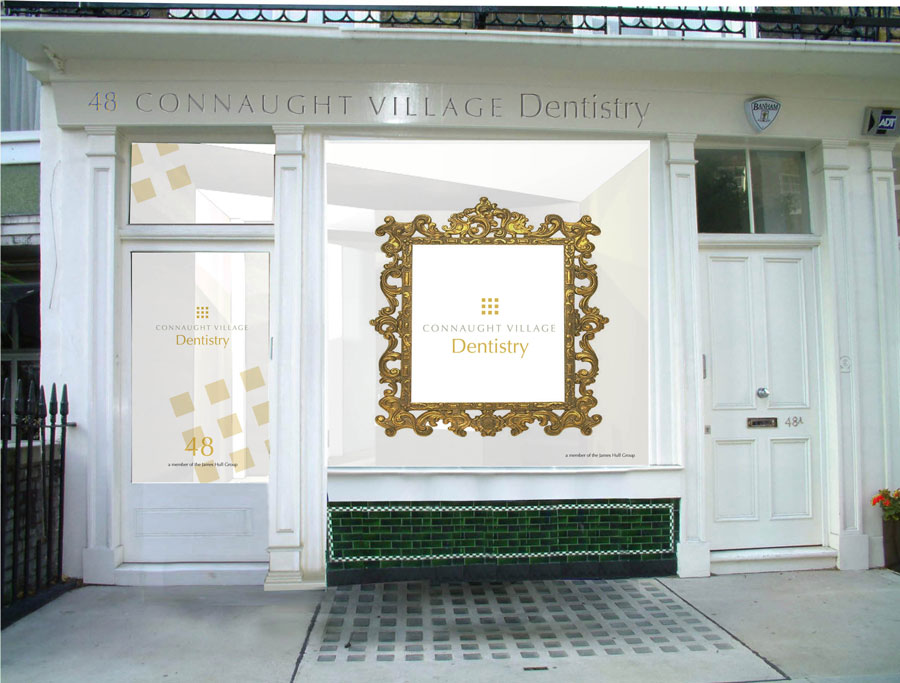 Connaught Village Dentist shop window design